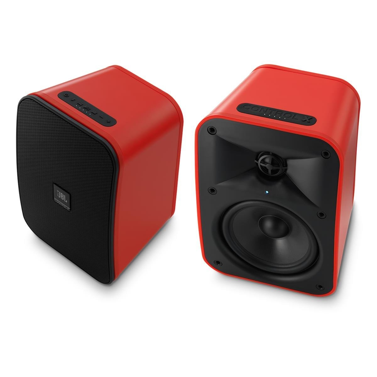 """JBL Control X Wireless 5.25"""" Portable Stereo Bluetooth Speakers - Pair (Red)"""