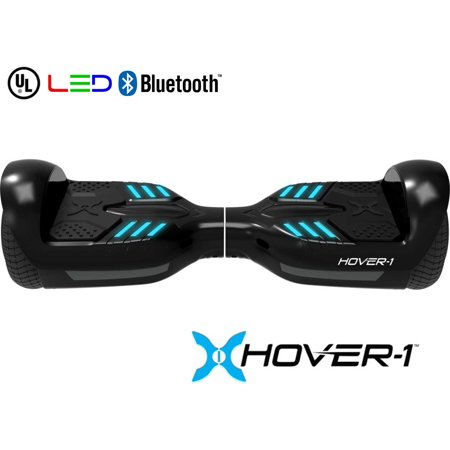 Black Super Balls.com (Hover-1 Superstar UL Certified Electric Hoverboard w/ 6.5 Wheels, LED Lights, Bluetooth Speaker, and App Connectivity -)