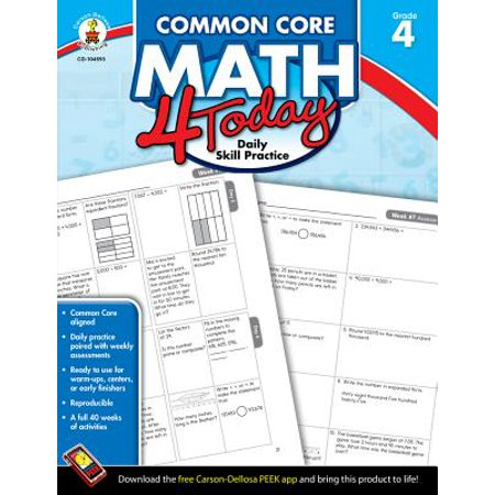 Common Core Kindergarten (Common Core Math 4 Today, Grade 4 : Daily Skill)