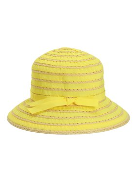 bbd6807c1b66c2 Product Image Children's San Diego Hat Company Ribbon And Paper Straw  Bucket Hat RBK3080