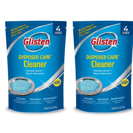 (2 Pack) Glisten Disposer Care Cleaner, Lemon Scent, 4