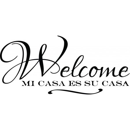 best selling cling transfer spanish quote welcome mi casa es su casa text lettering sign wall. Black Bedroom Furniture Sets. Home Design Ideas
