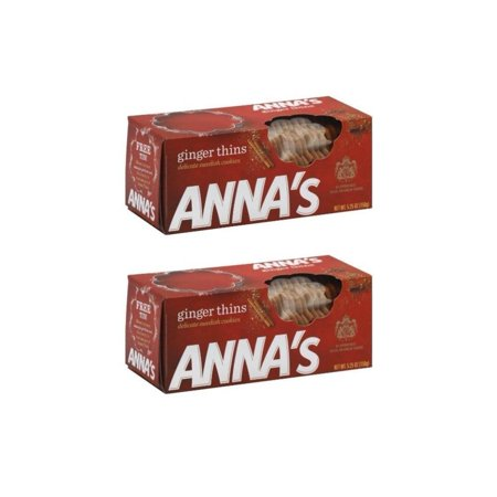 Ginger Thins Cookies - 5.25oz by Anna (Pack of 2) Ginger 5.25 Oz (Pack of