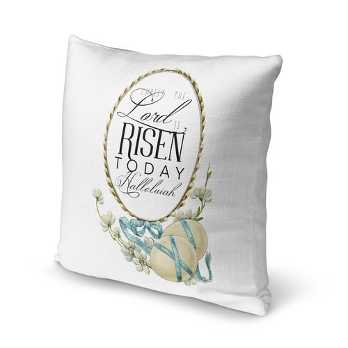 KAVKA DESIGNS The Lord is Risen Today Throw Pillow