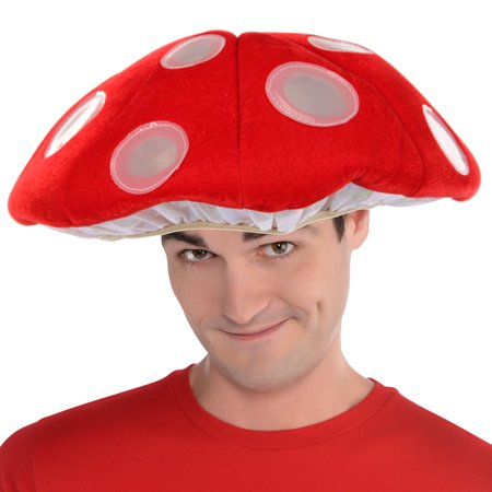 Most Terrible Halloween Costumes (Elope Inc Light-Up Mushroom LumenHat Halloween Costume Accessory for Children or Adults, One Size Fits)