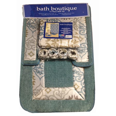 Home Dynamix Bath Boutique Shower Curtain And Rug Set 1574 432 Sage Beige