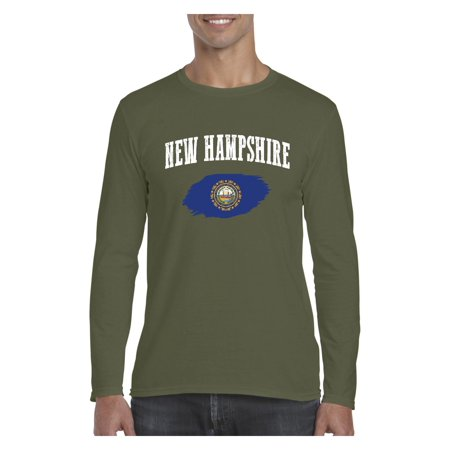 New Hampshire State Flag Men Softstyle Long Sleeve T-Shirt