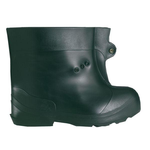 WINTER WALKING JD922-M Overboots,PVC,10 In,Tread Grit,Blk,M,PR