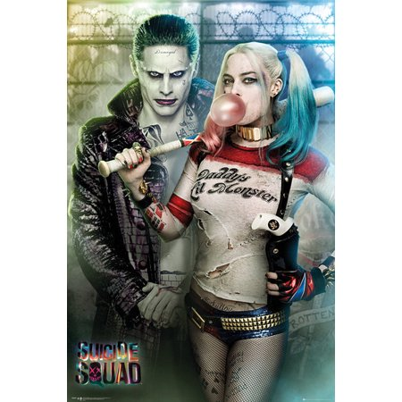 Suicide Squad Joker And Harley Quinn Poster Print (24 x