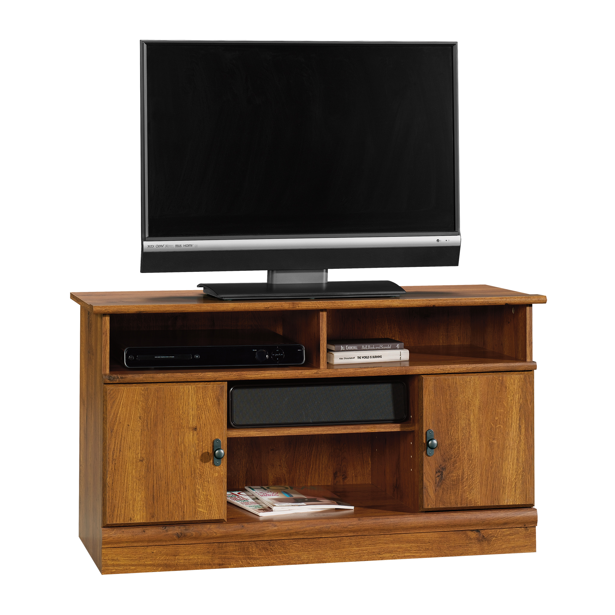 """Sauder Harvest Mill Panel TV Stand for TVs up to 42"""", Abbey Oak Finish"""