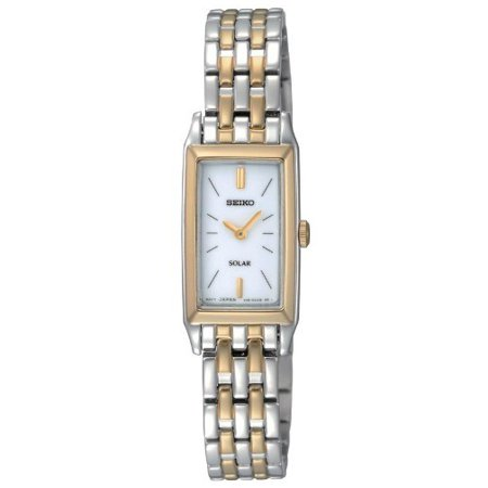 Womens Solar Stainless Watch - Silver Bracelet - White Dial - SUP028