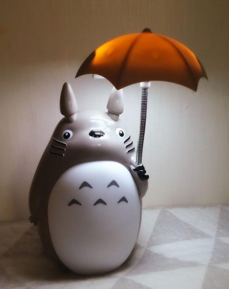 Totoro Anime LED Night Light[White Belly], Kidu0027s Character Lamp USB Charge,
