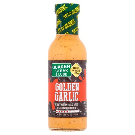 Quaker Steak   Lube Best Wings Usa Golden Garlic Sauce  12 Fl Oz