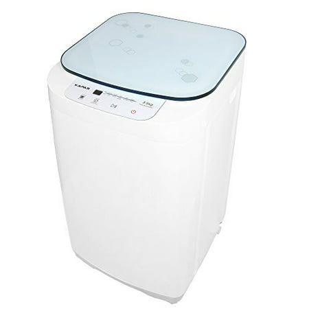 Compact Washing Machine, KAPAS Fully Automatic 2-in-1 Washer & Dryer Machine with 8 lbs Capacity Top Load Tub (Washing Bathroom Rugs In Front Load Washer)