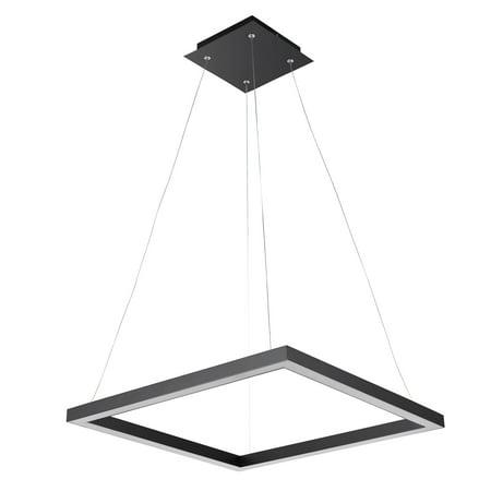 Globe Electric Draper Matte Black LED Integrated Pendant, 65847