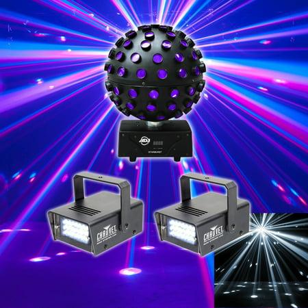 American DJ Starburst Sphere Multi Color Shooting Beam Lighting FX+(2) Strobes