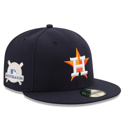 Houston Astros New Era 2017 Postseason Side Patch 59FIFTY Fitted Hat - Navy b887b8172