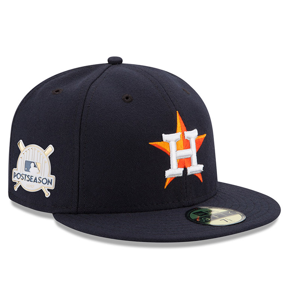 Houston Astros New Era 2017 Postseason Side Patch 59FIFTY Fitted Hat - Navy