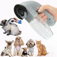 Dog Cat Pet Handheld Electric Hair Grooming Vacuum Cleaner Fur Shedding Remover Trimmer Brush Comb