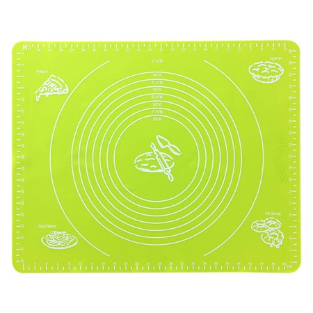 Silicone Baking Mat Non-stick Heat Resistant Dining Table Mat Pastry Baking Rolling Cut Mat Kitchen Tool - image 1 of 3