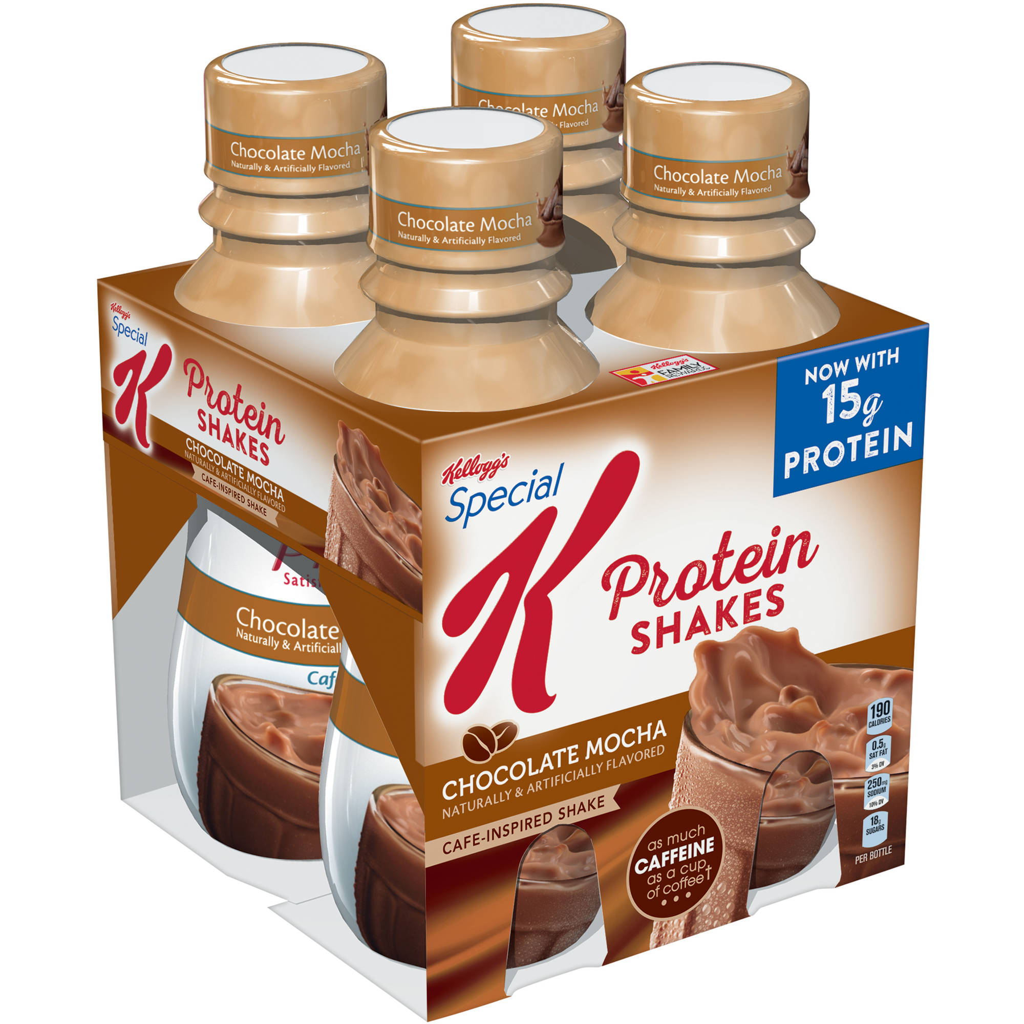 Kellogg's Special K Protein Chocolate Mocha Cafe-Inspired Shakes, 10 fl oz, 4 pack