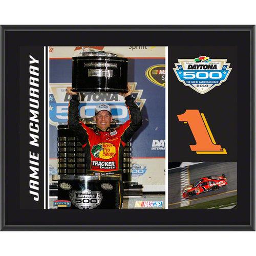 Jamie McMurray Plaque | Details: #1 Bass Pro Shops/Tracker Car, 2010 Daytona 500 Champion, Sublimated, 10x13, NASCAR Plaque
