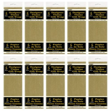 (5 Pack) Tissue Paper Sheets, 26 x 20 in, Metallic Gold, 5ct (Rose Gold Tissue Paper)