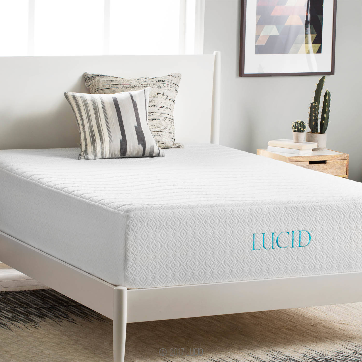 "Lucid 14"" Plush Memory Foam Mattress, Four-Layer, Multiple Sizes"