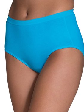 Fruit of the Loom Women's Assorted Cotton Brief, 6 Pack