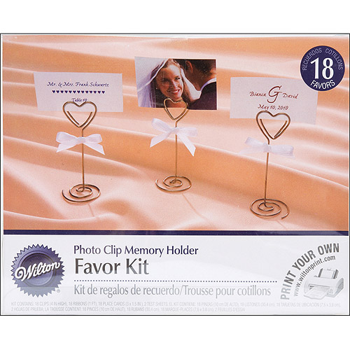 "Wilton 4"" Photo Clip Memory Favor Kit, 18 ct. 1006-3003"