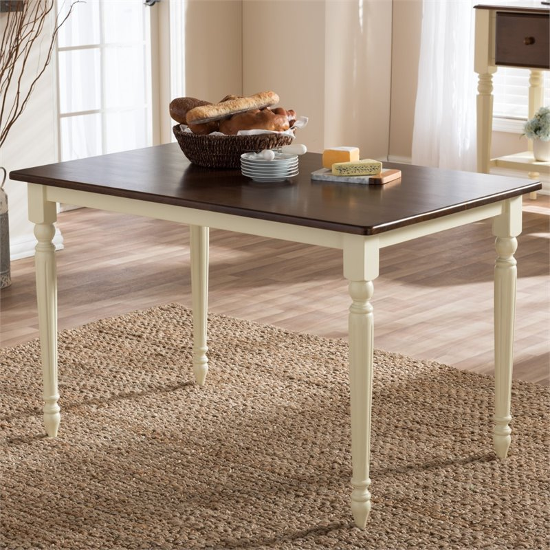 Napoleon Cottage Dining Table in Brown and Cream