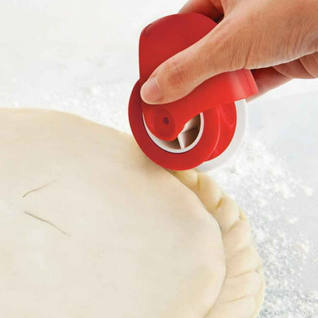 Pizza Pastry Lattice Cutter Pastry Pie Decoration Cutter Plastic Wheel Roller Plastic Pizza Wheel