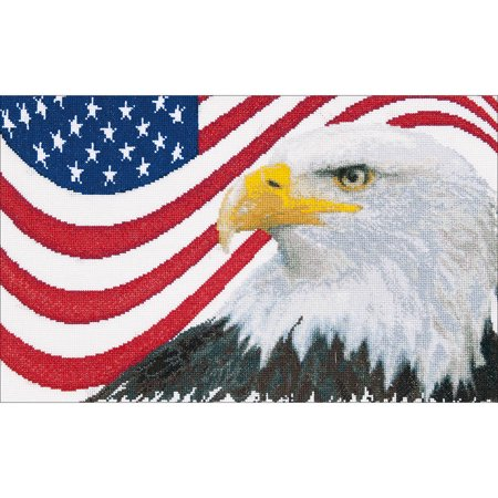 American Eagle On Aida Counted Cross Stitch Kit, 17.25