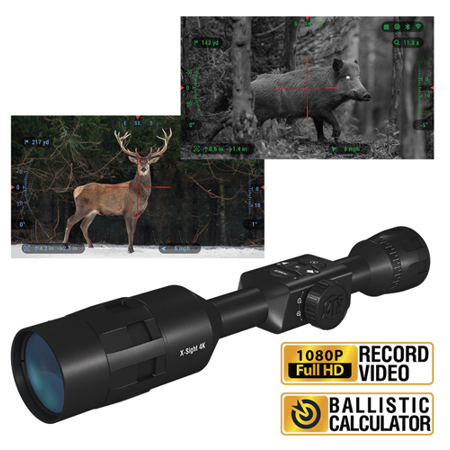 ATN X-Sight 4K Pro Smart Day/Night Rifle Scope 3-14x - Ultra HD 4K technology with Full HD Video, 18+ hrs Battery, Ballistic Calculator, Rangefinder, WiFi, E-Compass, Barometer, IOS & Android (Best Gen 1 Night Vision Scope)