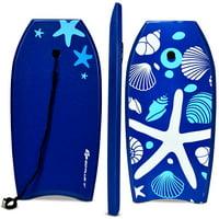 Goplus 41'' Lightweight Super Bodyboard Surfing W/Leash EPS Core Boarding IXPE Starfish