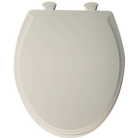 Church 640E2 Lift-Off Wood Round Slow-Close Toilet Seat, Biscuit
