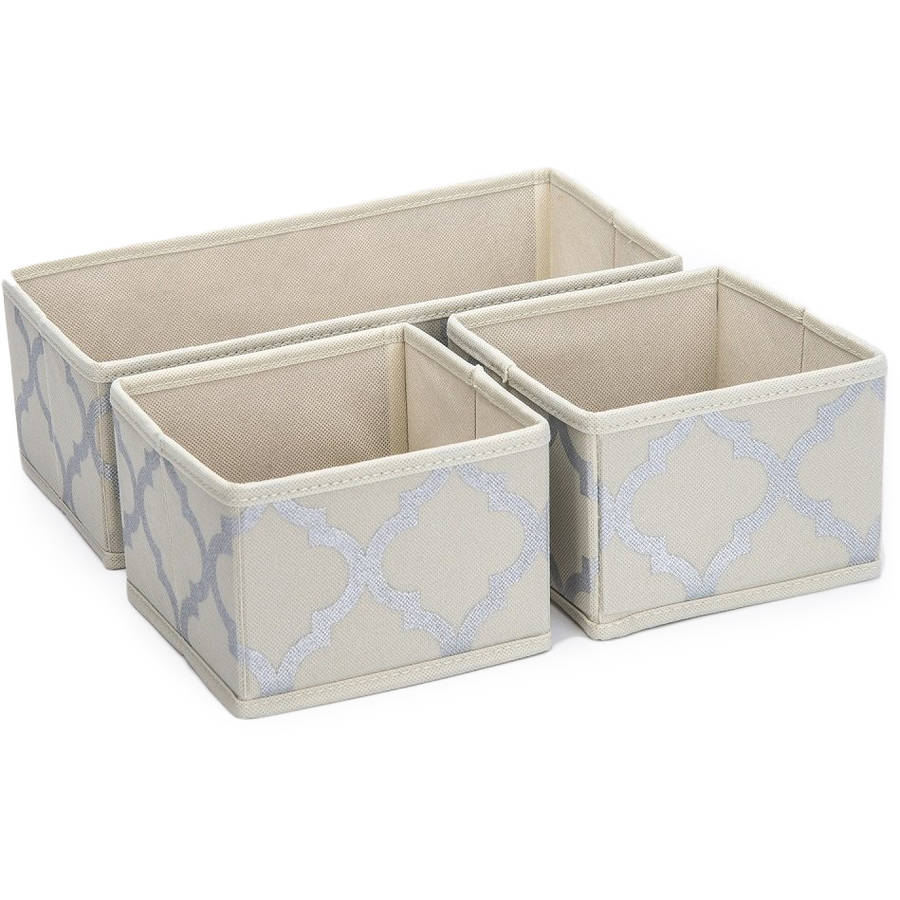 Sorbus Foldable Storage Drawer/Closet/Dresser Organizer Bins for Underwear, Socks, Accessories and More, 3-Piece Set