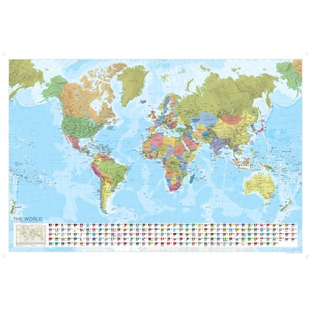 Marco Polo Maps: World Political Map (Other) (Political Map Of Usa With Major Cities)