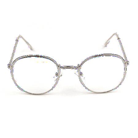 George Costanza Round Silver Frame Glasses Seinfeld Costume Nerd Eye TV Show