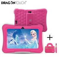 Dragon Touch Pink Y88X Plus 7 inch Kids Tablets PC Quad Core 8G ROM Android 6.0 Learning Tablets for Children/Toddlers+ Tablet Bag