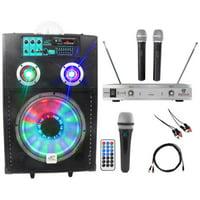 "NYC Acoustics Powered 12"" Karaoke Machine/System 4 ipad/iphone/Android/Laptop/TV"