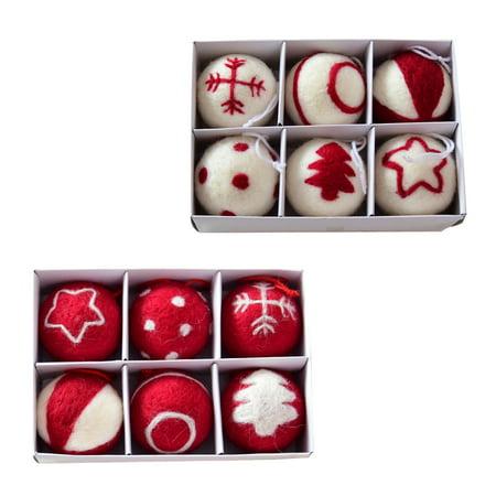 Christmas Ball Pendant, Decorative Shatterproof Christmas Tree Pendants Hanging 60mm Christmas Baubles Balls Ornaments Set Pack of 6 pcs (White) (Hanging Decorative Balls)