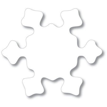 Snowflake Construction Paper Cut-Outs by Artistic Creations - Medium: 32 (Snowflakes Mini Cut Outs)
