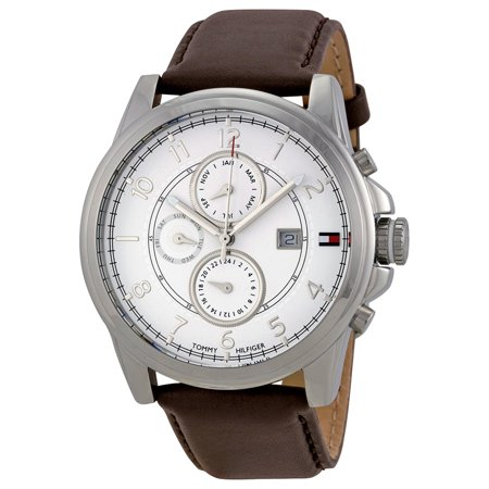 2f664afe1 UPC 885997020725 product image for Tommy Hilfiger 1710294 Leather Mens Watch  - Silver Dial   upcitemdb ...