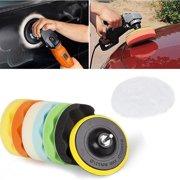 """8Pcs 6"""" Buffing Sponge Polishing Pad Kit Set For Car Polisher Buffer US"""
