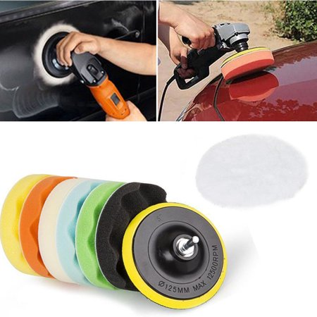 "8Pcs 6"" Buffing Sponge Polishing Pad Kit Set For Car Polisher Buffer US"