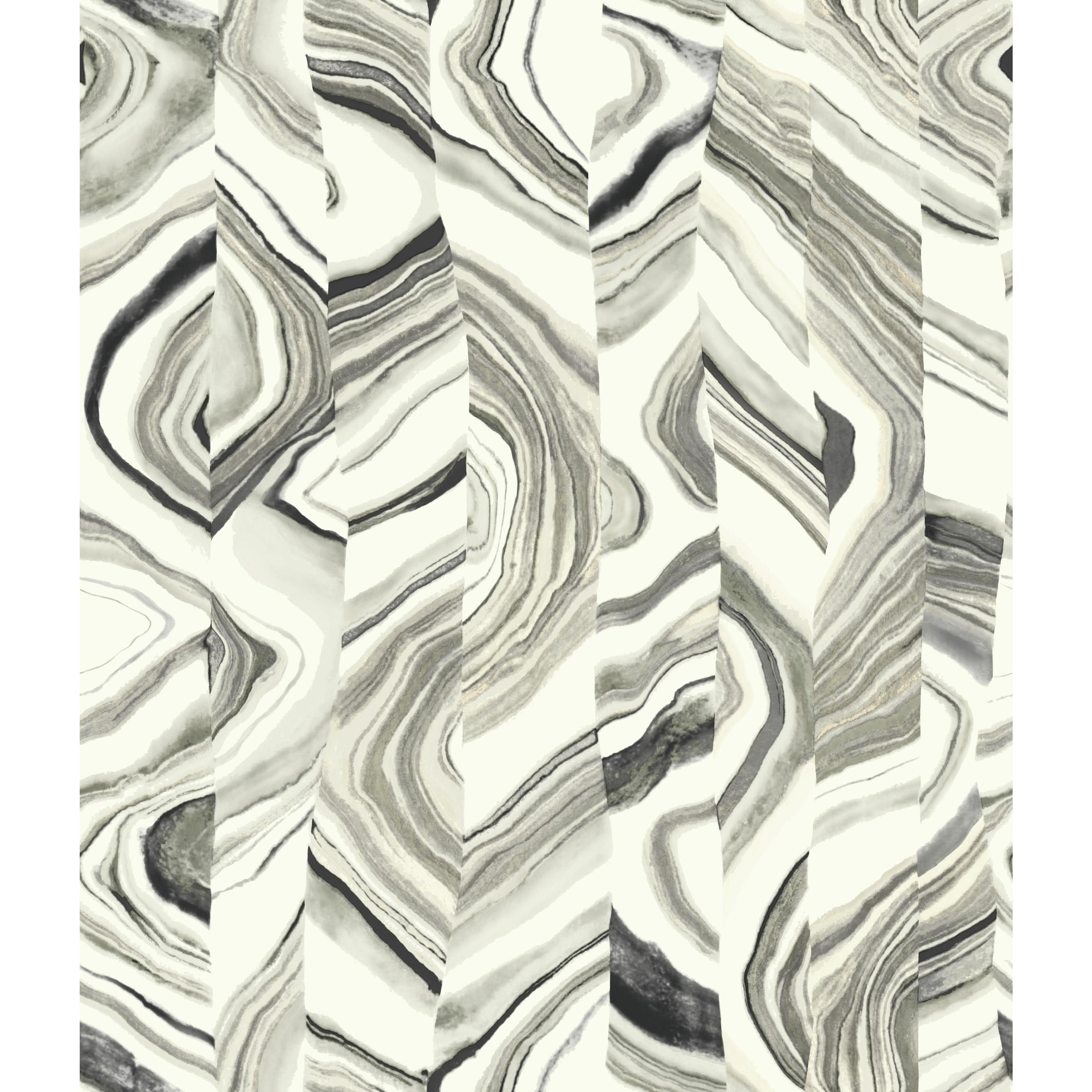 Agate Stripe Wallpaper - Black