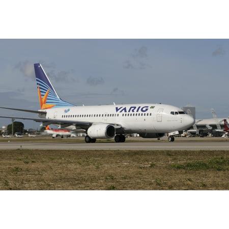Varig Airlines - Boeing 737 from Varig Brazilian airline taken at Natal airport Brazil Poster Print