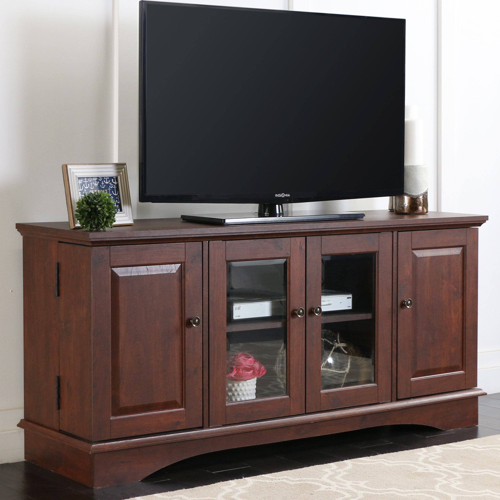 "52"" Brown Wood TV Stand Media Console for TV's up to 55"" by Walker Edison"
