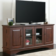 """Walker Edison Wood TV Stand for TVs up to 55"""" - Brown"""